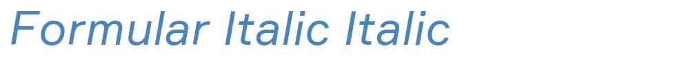 Formular Italic