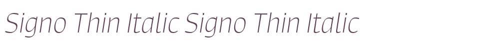 Signo Thin Italic