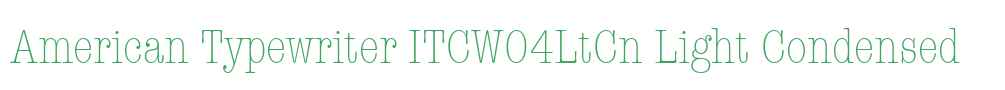American Typewriter ITCW04LtCn