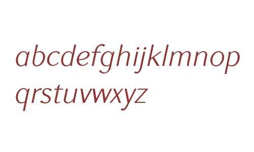 GHEA Koryun W01 Light Italic
