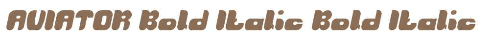 AVIATOR Bold Italic