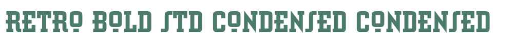 Retro Bold Std Condensed