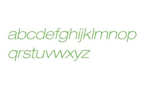 Helvetica Neue LT Com 33 Thin Extended Oblique V2