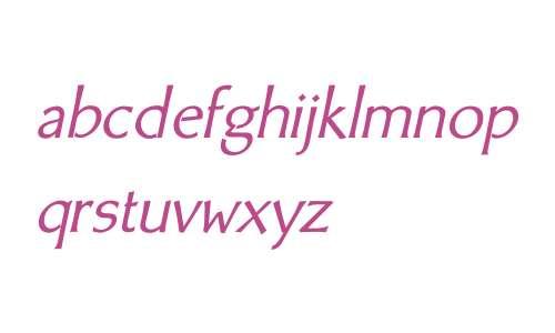 BodyCopy Sans W01 Italic