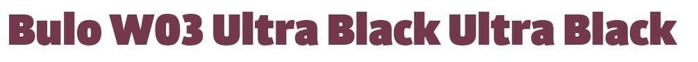 Bulo W03 Ultra Black