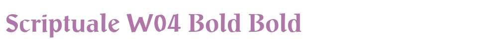 Scriptuale W04 Bold