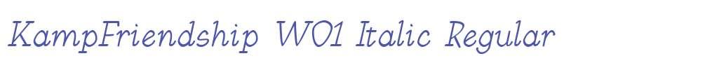 KampFriendship W01 Italic