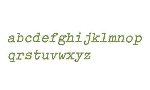 Typewriter-ExtraBoldOblique
