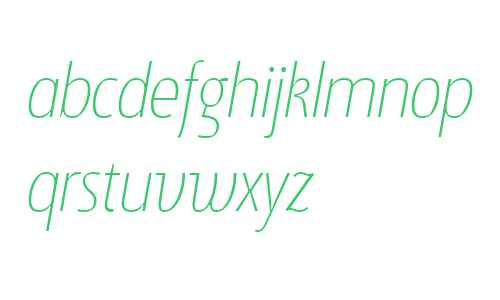 Suomi Sans W01 Thin Italic