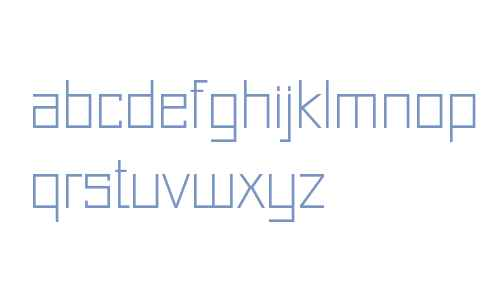 Just Square LT Std Cyrillic Thin
