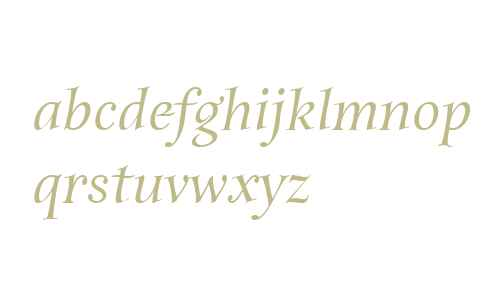 Anima ITC W01 Medium Italic