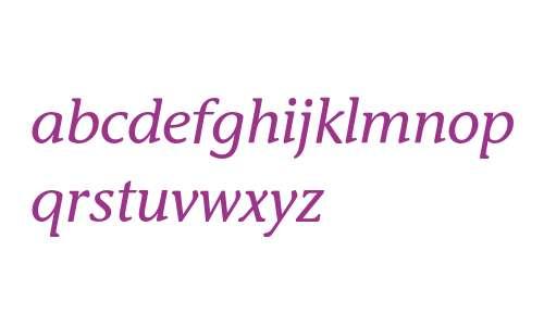 Stone Inf ITC Medium Italic
