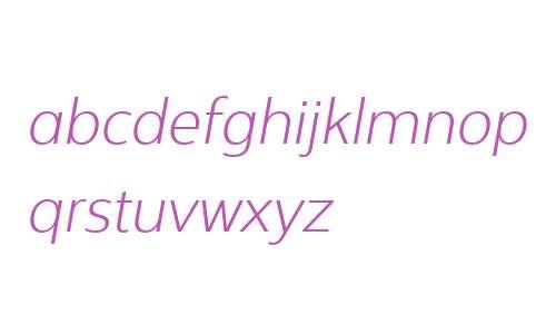Interval Next W03 Light Italic