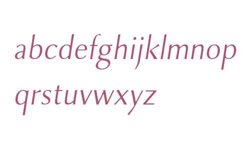 Combi Sans W01 Light Oblique
