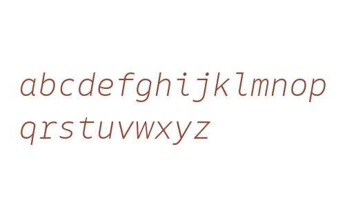 Native Light Italic