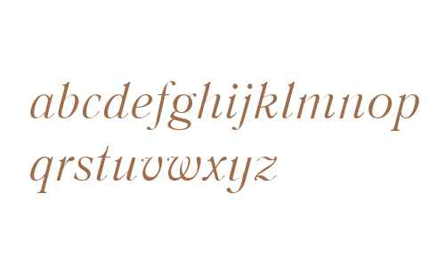 Literaturnaya W01 Italic