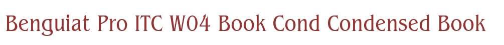 Benguiat Pro ITC W04 Book Cond