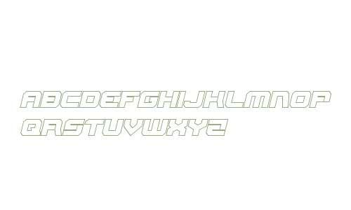 Gearhead Outline Italic