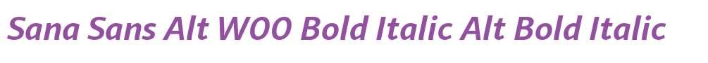 Sana Sans Alt W00 Bold Italic