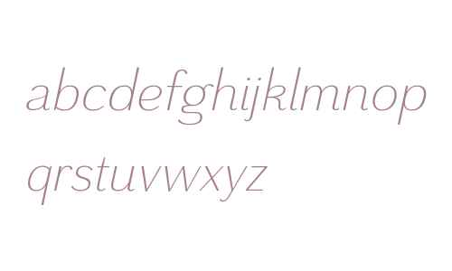 Grenale W01 Norm Light Italic