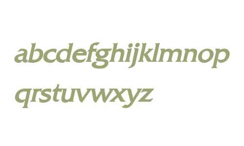 Franco Bold Italic