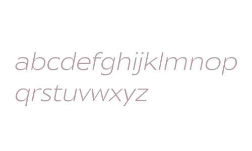 Mensa Expanded W01 Light Italic