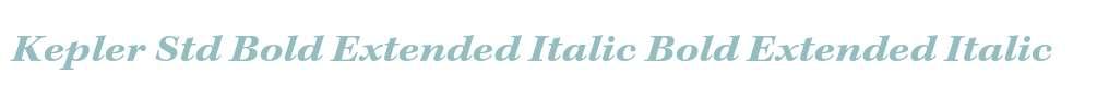 Kepler Std Bold Extended Italic