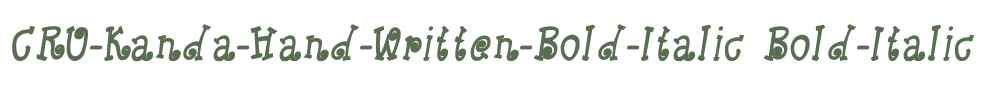 CRU-Kanda-Hand-Written-Bold-Italic