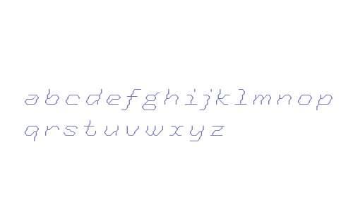 Tronic OT W03 Light Italic
