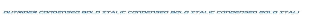 Outrider Condensed Bold Italic Condensed Bold Italic