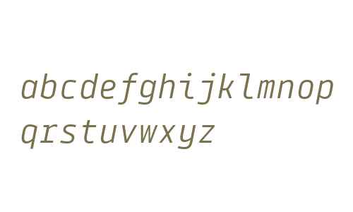 Tabular Italic