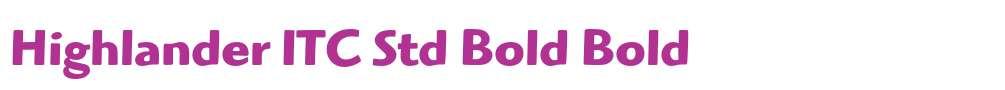 Highlander ITC Std Bold
