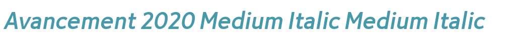 Avancement 2020 Medium Italic