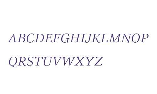 Civita W01SC ExtraLight Italic