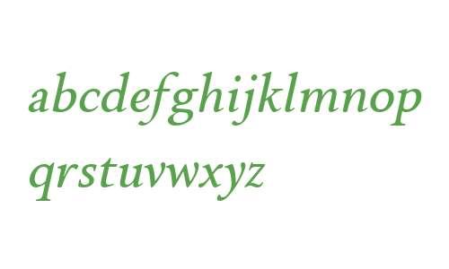Brigade W00 Medium Italic