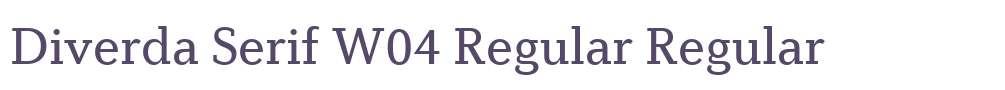 Diverda Serif W04 Regular