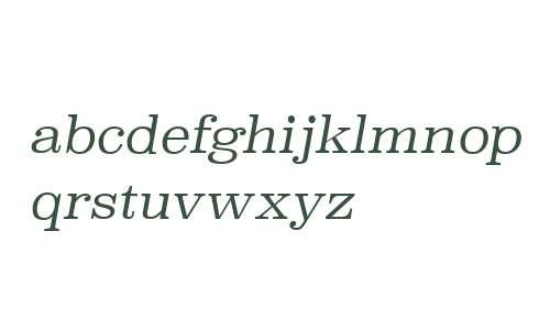 Superclarendon Lt Italic V2