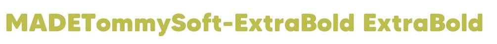 MADETommySoft-ExtraBold