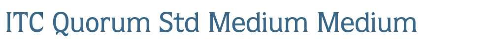 ITC Quorum Std Medium
