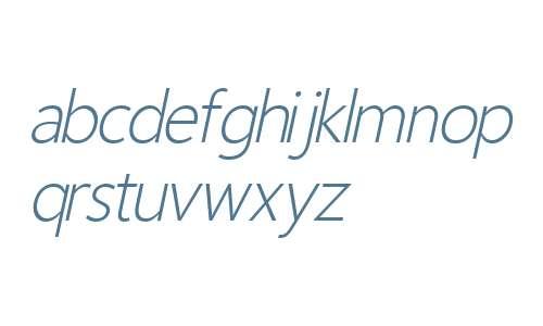 Homizio Nova Light Italic