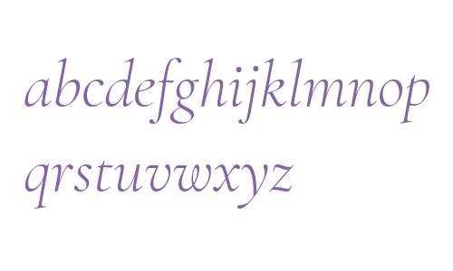 Cormorant Garamond Light Italic
