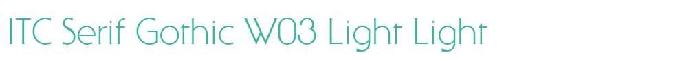 ITC Serif Gothic W03 Light