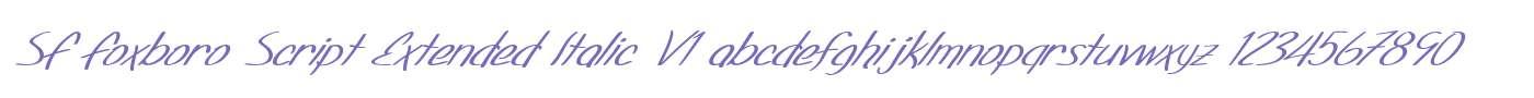 SF Foxboro Script Extended Italic V1