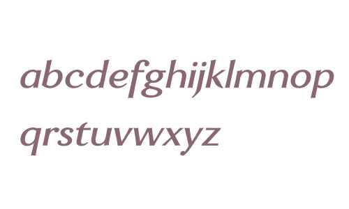 Enzia W00 Medium Italic