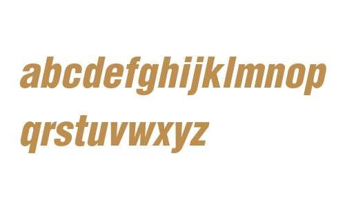 Helvetica LT W04 Black Cn Obl