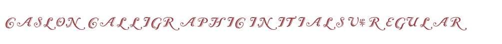 Caslon Calligraphic Initials V2
