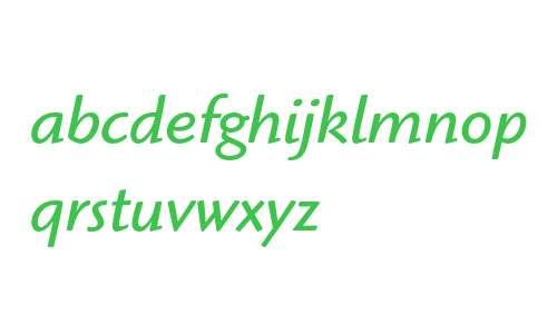 ITC Highlander Book Italic