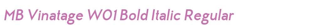 MB Vinatage W01 Bold Italic