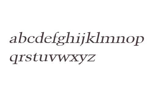 Congo Wide Italic