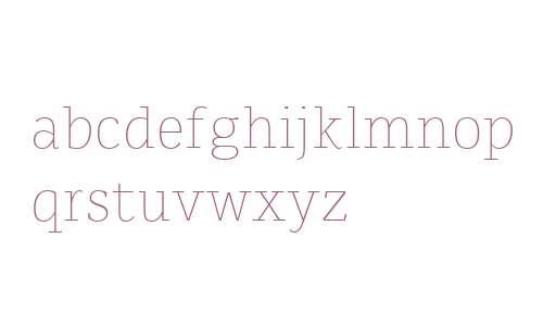 Karlo Serif W00 Extra Light